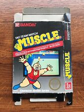 MUSCLE Tag Team Match M.U.S.C.L.E. Authentic NES Nintendo Empty Box Only