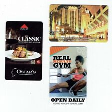 Plaza Las Vegas Room Keys Casino Hotel Downtown - Lot of 3 Diff - Oscar's, Gym