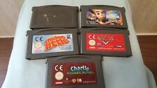 5 X Cart Only - NINTENDO Game boy Advance KIDS GAMES. chicken little,cars ETC