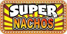 (Choose Your Size) Super Nachos Decal Concession Food Truck Vinyl Sticker