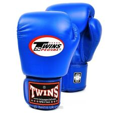 Twins Boxing Gloves Adult Blue MuayThai Kickboxing Sparring Gloves 10 12 14 16