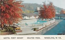 (W)  Wheeling, WV - Motel Fort Henry - Swimming Pool in Autumn - 6/16/1962