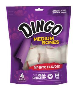 Dingo  Medium  Adult  Rawhide Bone  Beef  5.5 in. L 4 pk