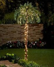 LARGE OUTDOOR LIGHTED PALM TREE GARDEN POOL DECK PATIO LAWN HOME DECOR