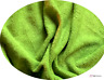 Luxury LIME GREEN Cotton Towelling Fabric Thick and Strong - Met or Half Met