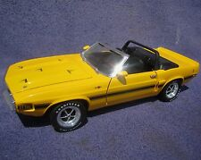 ERTL 1/18 1969 Ford Mustang Shelby GT500 YELLOW  American Muscle '69