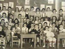 1947 Photo Kindergarten Class Washington School Evansville IN 80 Boys & Girls