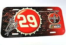 Coca-Cola Coke USA License Plate NASCAR Racing Family Nummernschild Nr. 29