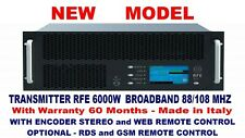 Broadcast Profes 6000w FM Stereo Transmitter Wide Band 88/108 Mhz - Weight 28 kg