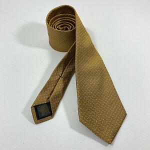 Brooks Brothers Tie Men's Neck Tie Pure Silk Blue gold Yellow Dots