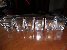 5 JACK DANIELS Gold Medal Shot Glasses Ghent, London, St Louis, Liege, Old #7