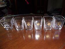 5 JACK DANIELS Gold Medal Shot Glasses Ghent, London, St Louis, Liege, Old #7
