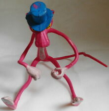 """Vintage Posable 11"""" Pink Panther with Blue Top Hat 1982 (Sku# 475)"""