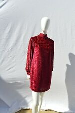 Vintage 60's RUDI GERNREICH mini dress burn out floral velvet MOD dress sM sexy