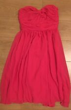Pink Strapless Prom Knee Length Boned Dress H&M Size 12 New With Tags