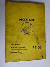Revue manuel d'Atelier HONDA : P A 50 de 1980