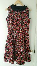 NEW vintage inspired wild flowers dress (matching headband ), size 12-14