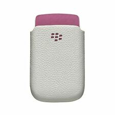 Genuine Blackberry Torch 9800 White Leather Pocket Case