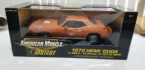 Ertl American Muscle 1970 Hemi Cuda 10 Fastest