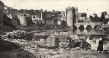 DEUX- SÈVRES. Parthenay. Vieille enceinte Ville. prise pont- neuf 1900 print