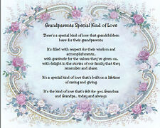 Grandparents Special Kind of Love Sentimental Matted Print Gift
