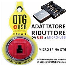 ADATTATORE DATI OTG DASH Micro USB / USB  PER SAMSUNG GALAXY S3 i9300