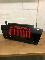 Gloss Black & Red DEFENDER Steering Sump Guard 5mm Steel - Land Rover 90 110 130