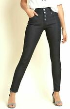 Modcloth Buttoned Fly Skinny Jeans sizes 0,2,6,8,10,12,14,20,26,28 Black (C55)