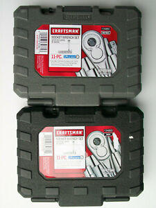 """NEW 22pc Craftsman 1/4"""" SAE/STD and Metric/MM Socket/Ratchet Wrench Set"""