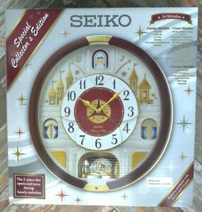 Seiko Special Collector's Edition 24 Melodies In Motion Music Wall Clock Beatles