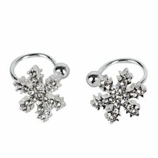New Exquisite Super Cute Comfy C On Snowflake Crystal Studs Stud Earrings Y5K7