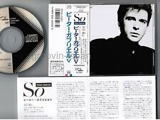 PETER GABRIEL So JAPAN CD 32VD-1021 1A4 TO w/OBI 1986 1st issue BLACK TRIANGLE