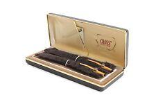 Vintage Aerojet Science Globe Gold Fill Cross Pen & Pencil Set w/ Case