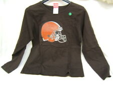 NFL Cleveland Browns Womens Long Sleeved Shirt Size Large Brown New f/s