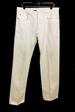 Dior Homme Japan Men's White Jeans Stud Button- Fly Tag 36  Waist 34''