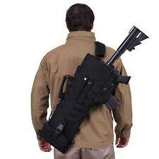 Black Tactical Rifle Shotgun Scabbard MOLLE Shoulder Sling Padded Case Horse ATV