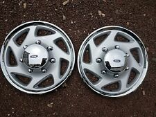 "Pair of 2 95 96 97 98 99 00 01 F250 F350 Econoline 16"" Hubcaps Wheel Covers 923"