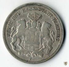 HAMBURG, 2 Mark 1876 J, Stadtwappen, Jg. 61, schön