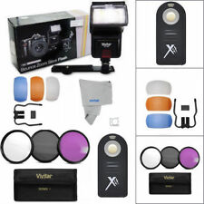 PRO SLAVE FLASH + HD FILTER KIT +REMOTE FOR NIKON D5000 D7100 D610 D7200 D3100