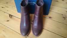 COLE HAAN Auden Wedge Ankle Boots Chestnut UK 5.5 (EU 38.5). RRP £278