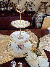 edle große Etagere 3-stufig Rosenthal Sanssouci Diplomat Poliergoldkante N1