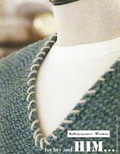 Mission Falls for HER and HIM Knitting Pattern Instruction Book Womens Mens NEW