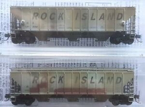 N scale 2 Pack Weathered Freight Cars