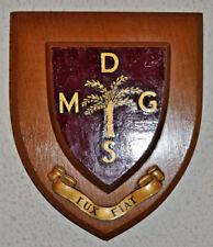 Vintage Dennis Memorial Grammar School plaque shield coat of arms crest Nigeria