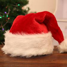 Unisex Christmas Hat Caps XMAS Santa Soft Plush Hats Family Adult Children Gifts