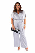 Plus Size Wrap Front Jumpsuit
