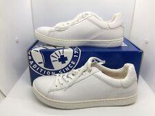 BIRKENSTOCK Womens Levin White Leather Casual Sneaker Shoes Sz 8 EU39 N ZB6-1222