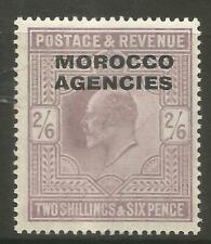 STAMPS-MOROCCO AGENCIES. 1907. 2/6d Pale Dull Purple. SG: 38. Mint Hinged