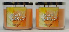 2 Bath Body Works Pech Bellini 3-Wick Candle 14.5 oz