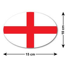 ST George's Cross Auto Adesivo / Decalcomania-bandiera nazionale dell' Inghilterra-OVAL 15x10 cm
